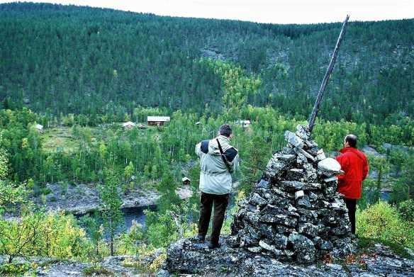 Ivalojojen Kultala Lihrinkalliolta katsottuna.